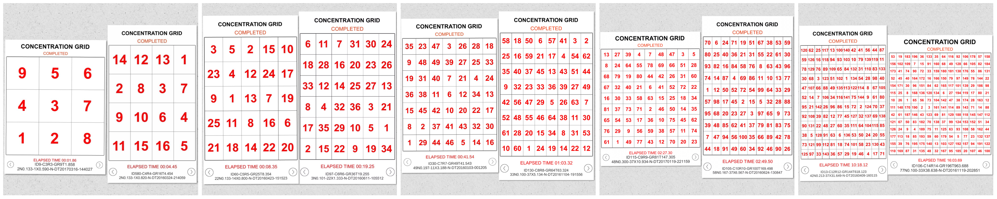 Concentration Grid is a mental skills training exercise/app for students, athletes, coaches, sports performance/psychology professionals, trainers, teachers, parents, etc. Use concentration grids a/k/a mental focus grids with student-athletes as a tool for assessment, practice and development of focus/attention skills ... and for competitive challenge and fun. Make self-development a daily habit. #challengeyourself #concentrationgrid - www.concentrationgrid.com - www.mentalfocusgrids.com - www.tryconcentrationgrid.com